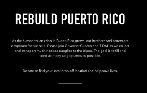 Tidal placed this notice on their site to encourage efforts for their project.