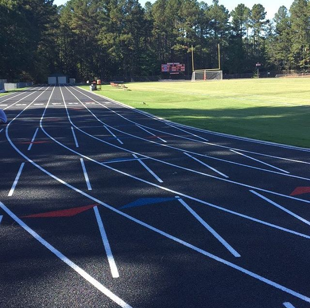 Spartan+athletes+are+ready+to+enjoy+the+new+track.+%0A