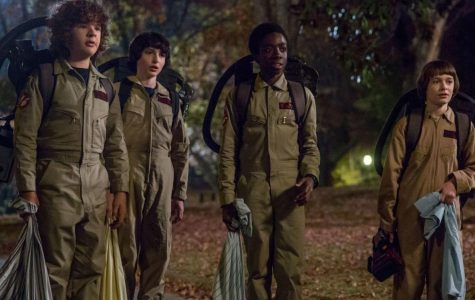 """(L to R) Matarazzo, Wolfhard, McLaughlin and Schnapp in season two of """"Stranger Things."""""""