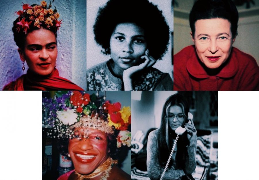 Sanderson+junior+Maddie+Harkins+posted+pictures+of+five+inspiring+women+as+a+way+to+celebrate+International+Women%E2%80%99s+Day+on+social+media+%28left+to+right%3A+Frida+Kahlo%2C+Bell+Hooks%2C+Simone+de+Beauvoir%2C+Marsha+P+Johnson%2C+Gloria+Steinem%29.%0A