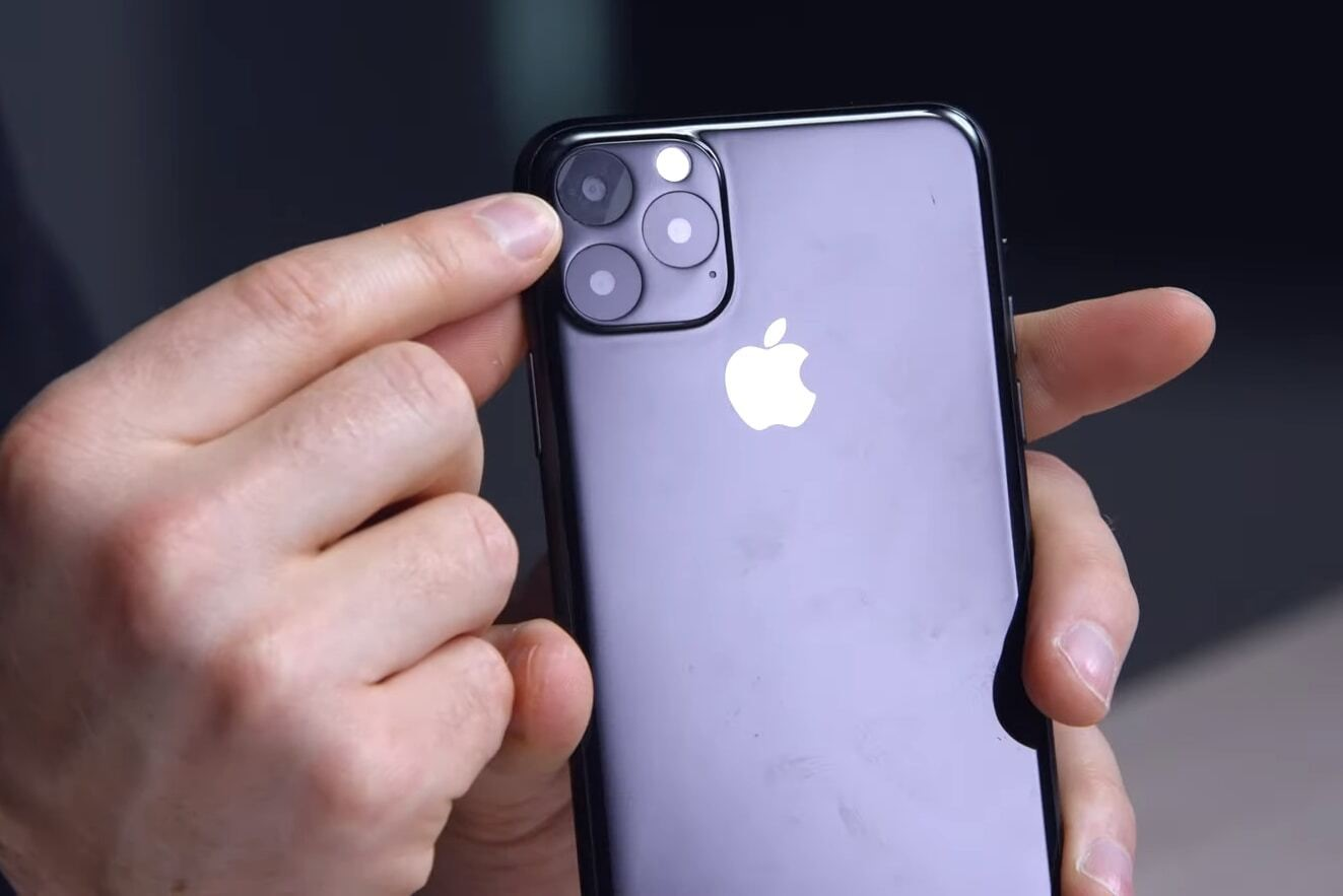 The new iPhone features three cameras.