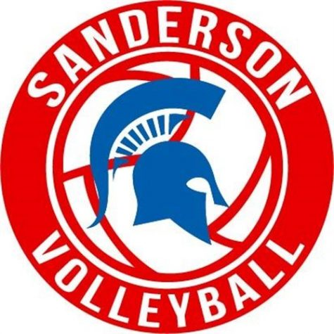Sanderson volleyball Digs Pink!