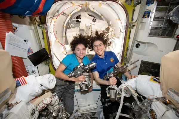 Christina Koch and Jessica Meir participated in the first all-women space walk October 18.