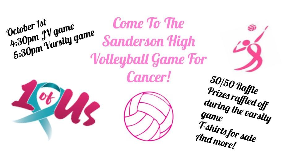 Sanderson's annual Dig Pink fundraiser raised over $2,000 for the 1 of Us Foundation.
