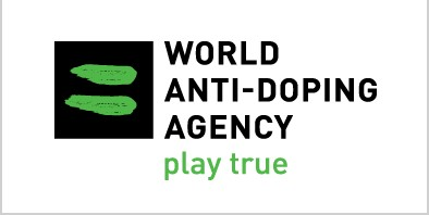 The logo of the World Anti-Doping Agency who banned Russia for International sport.