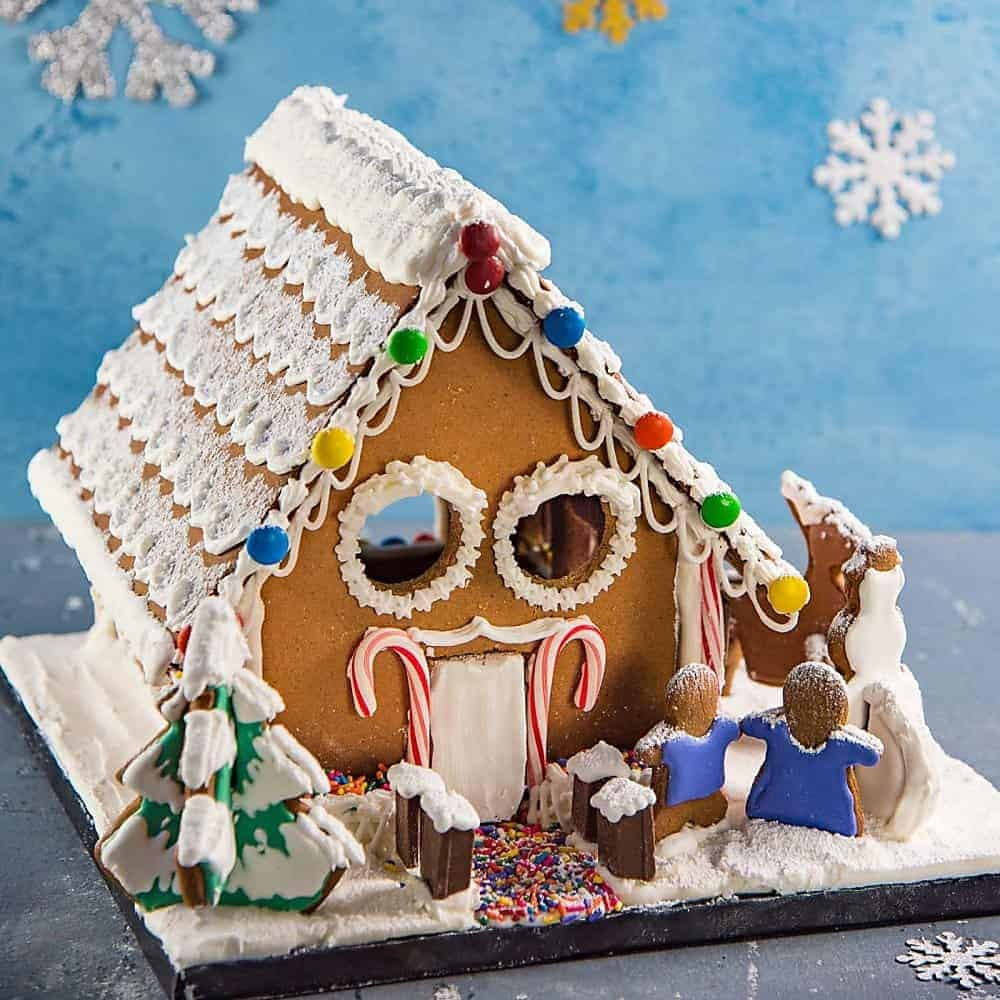 Try this DIY gingerbread house for a holiday treat.