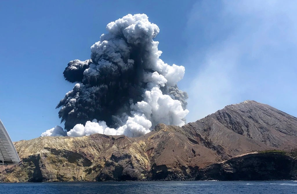 A volcano on White Island in New Zealand erupted December 9.