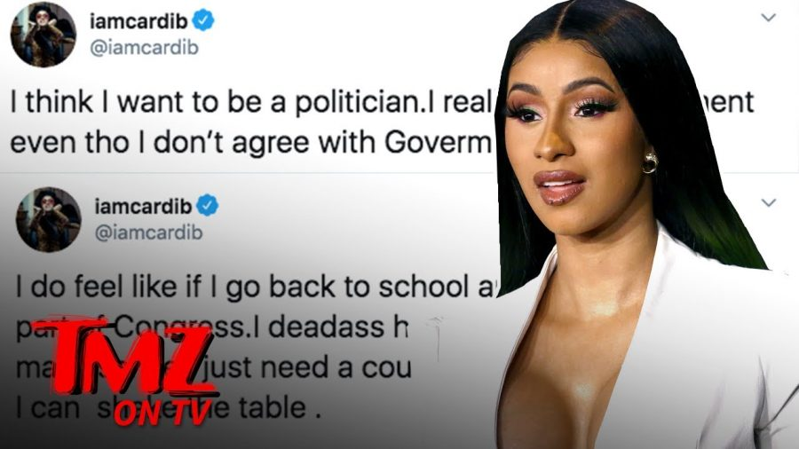 Cardi B says she might run for Congress, via a tweet.