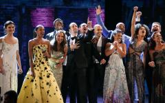 The original cast of Hamilton celebrating at the 2016 Tony Awards.