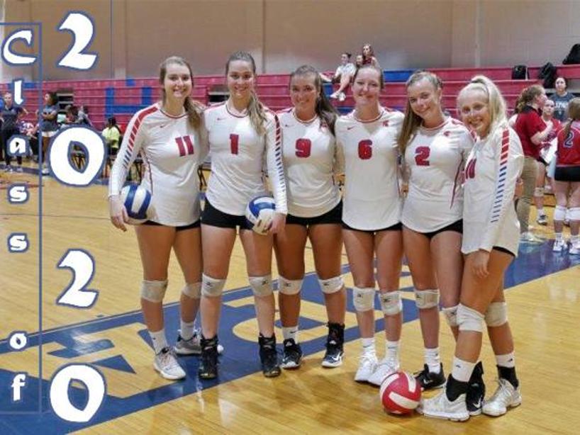 The 2019-2020 Sanderson Volleyball team photo