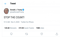 President Trump disputes the legitimacy of new votes being counted.