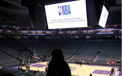 Fans leaving the Golden One Center as a game is postponed back in March