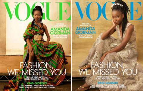 23-year-old National Youth Poet Laureate Amanda Gorman appears on the cover of Vogue Magazine.