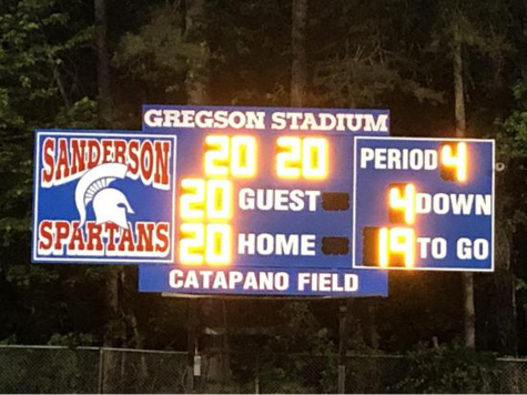 Sanderson's home football field, Catapano Field at Gregson Stadium.