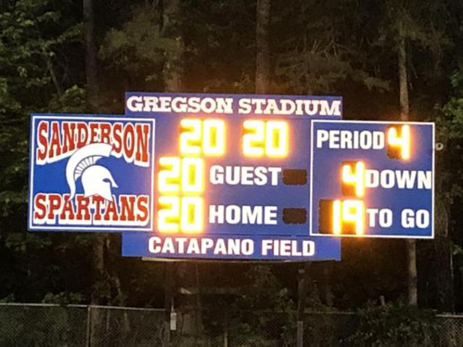 Sanderson's home football field, Catapano Field at Gregson Stadium.