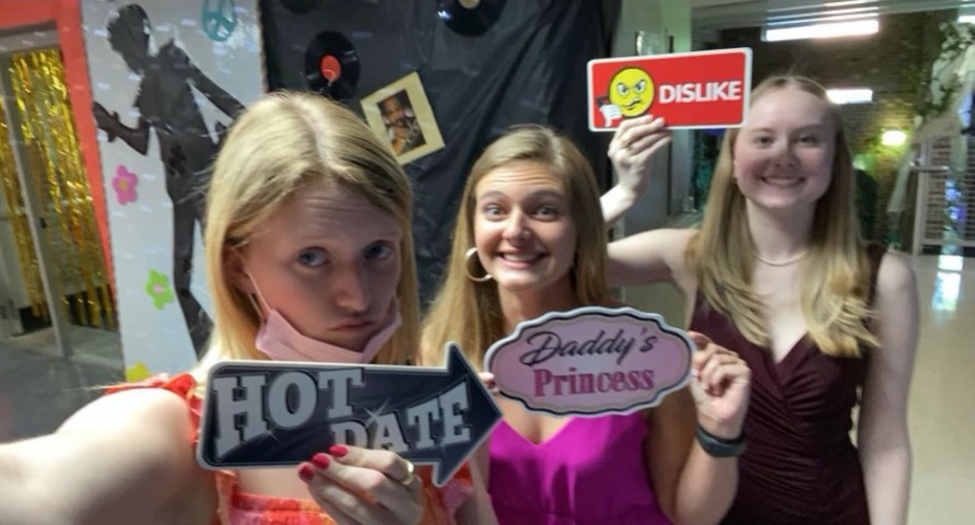 The Senior Soirée had fun props and other activities for the Spartans.